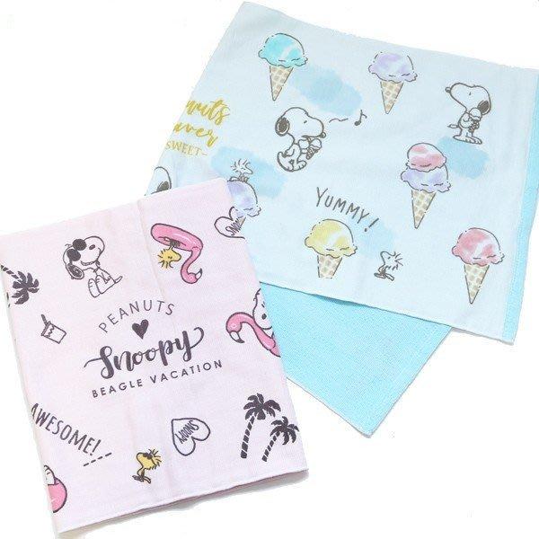 《散步生活雜貨》日本進口 PEANUTS - SNOOPY 史努比 夏天系列 長型 毛巾-兩色選擇