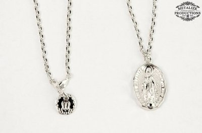 (I LOVE樂多)METALIZE Blessed Virgin Mary Necklace 聖母圓牌項鍊