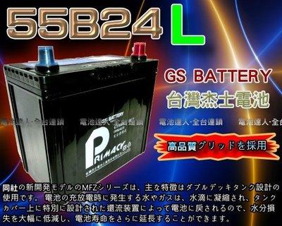 【電池達人】杰士 GS 統力 汽車電池 55B24L SWIFT SOLIO JIMNY SENTRA TIIDA 裕隆