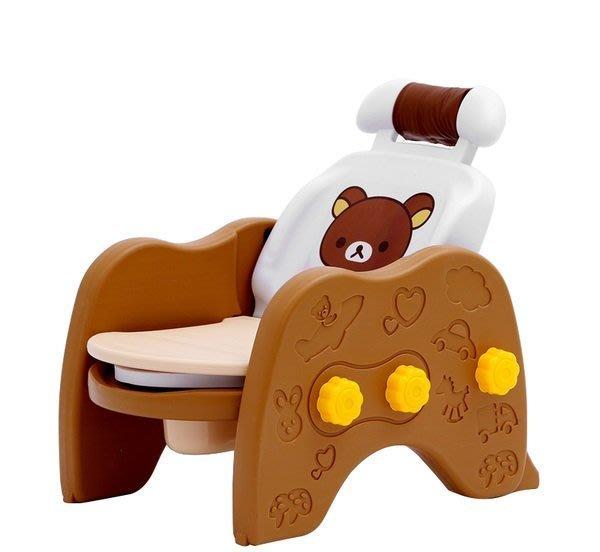3合1多功能拉拉熊加大學習馬桶-洗頭椅/安全椅/座便椅~多功能兒童洗髮椅便器~◎童心玩具1館◎