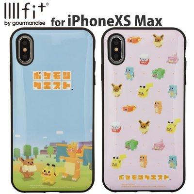 尼德斯Nydus 日本正版 寶可夢探險尋寶 皮卡丘 伊布 手機殼 軟殼 耐衝擊 iPhone Xs Max -預購