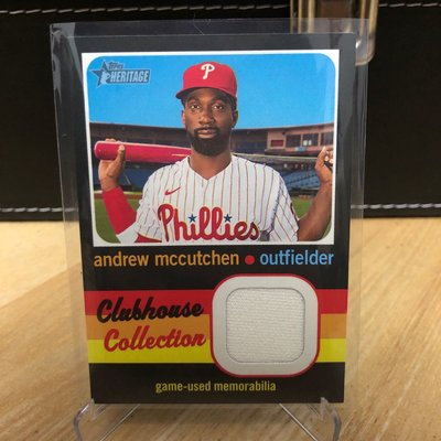 2020 topps Heritage High Number Andrew Mccutchen 球衣卡