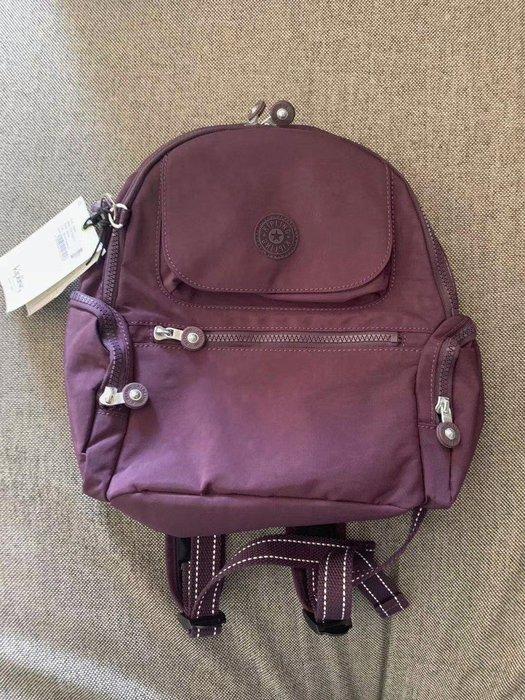 凱莉代購 Kipling 猴子包 BP4047 紫色 拉鍊多夾層輕量雙肩後背包 兩側拉鍊袋 防水 小款 限量 預購