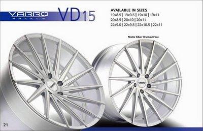 "+OMG車坊+全新美國VARRO鋁圈 VD15 19""20""22""吋鋁圈 所有尺寸 規格 顏色 歡迎洽詢"