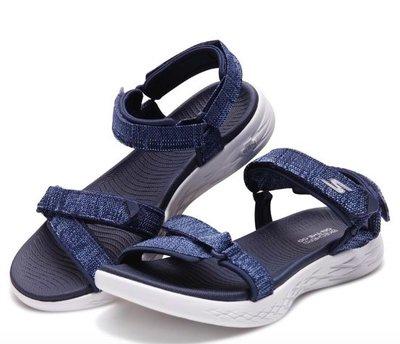 2018夏季新品官網同步~保證正品~Skechers 女生新款涼鞋 ON-THE-GO 600(15315NVW) 深藍