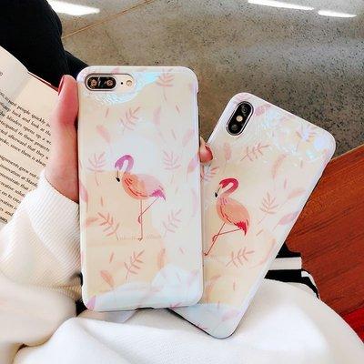 鐳射火烈鳥iPhonex手機殼蘋果xs Max硅膠套防摔6splus藍光XR女款7plus8plus全包邊軟殼新款6個性