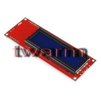 r)Sparkfun原廠 Serial Enabled 16x2 LCD-Yellow on Blue藍底黃字5V