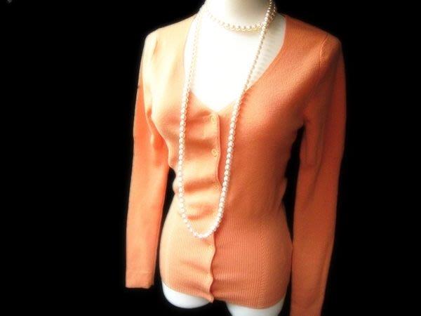 *Beauty*JOAN&DAVID橘色羊毛針織毛衣外套 IR