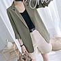❤公主的著衣❤韓國七分袖中長款雪紡防曬小西裝外套薄女黑白灰西服外套