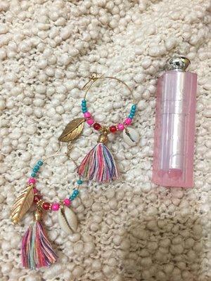 民俗嬉皮渡假貝殼耳環 earrings folk hippie vacay shell