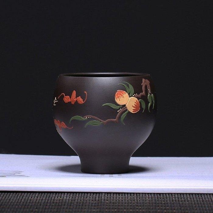 【祥雲閣】紫砂杯子原礦紫砂仙桃主人杯批發廠家直銷功夫茶具套裝茶器定制