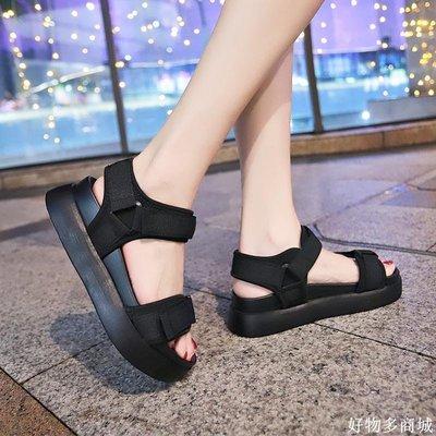 好物多商城 chic涼鞋女ins新款潮外穿時尚百搭超火魔術貼學生運動鞋