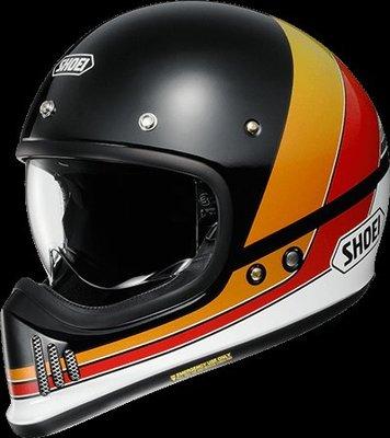 《鼎鴻》SHOEI全罩式安全帽 EX ZERO EQUATION TC-10  黑/白彩繪