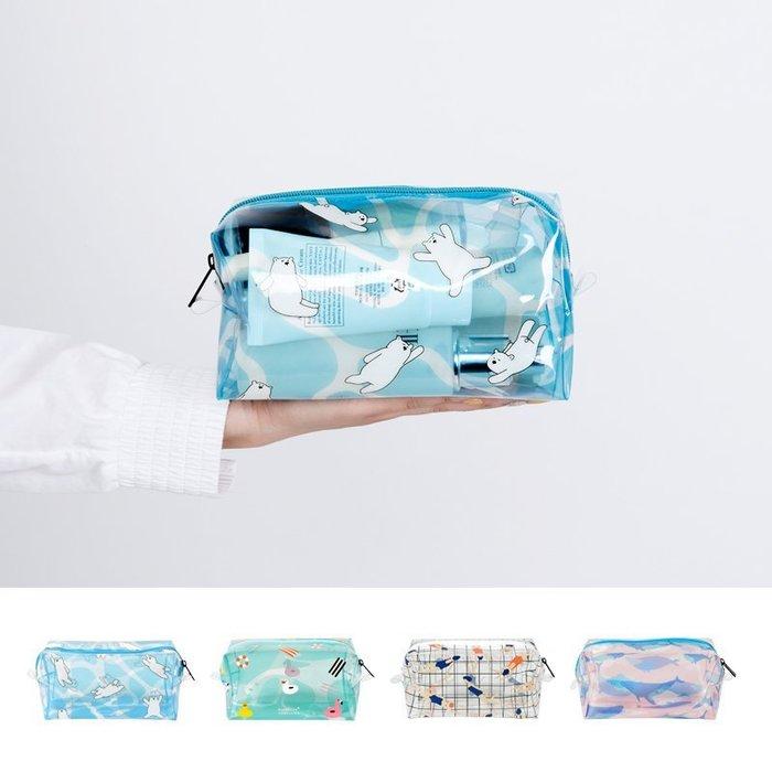 Kiitos 新款 海物語系列 透明PVC化妝包雜物包