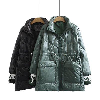 現貨中大尺碼超保暖外套棉服大碼外套收腰中長款保暖外套DZ201102