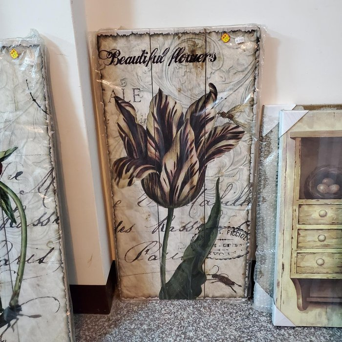 OUTLET限量低價出清鄉村 田園 ZAKKA 雜貨 懷舊復古 木版畫 -- ---大花卉 ---民宿入宅