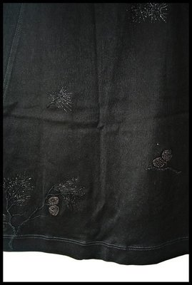 【Shiatzy Chen】夏姿深黑棉刺繡珠花小圓裙(原價$29800)