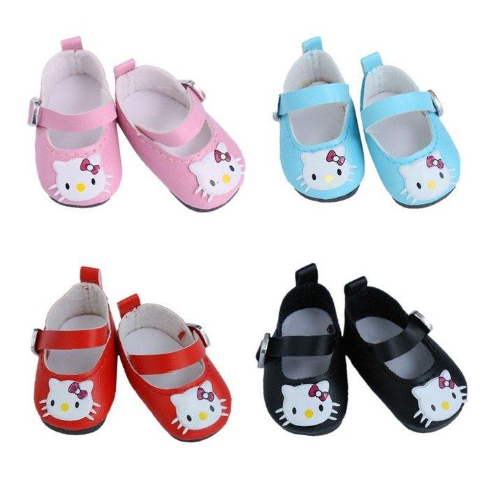 【小黑妞】小美樂30cm以下娃娃配件-~小美樂可穿KITTY造型小皮鞋(不含襪子)【現貨】