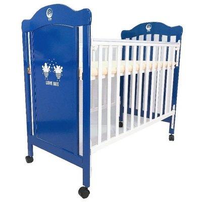 寶貝生活館☆ mother's love 台灣製組合中床 嬰兒床 嬰兒中床 藍白色中床