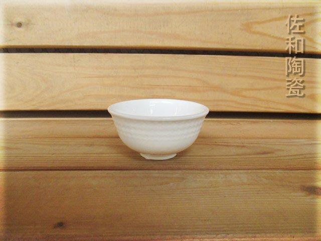 ~佐和陶瓷餐具~【82AD002 方格紋3.8碗(鎂質瓷)6入】/ 開店 餐廳 飯碗 強化瓷 /