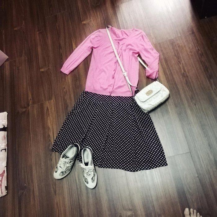 百貨公司專櫃poone深藍色愛心裙子加桃粉色上衣兩件賣190