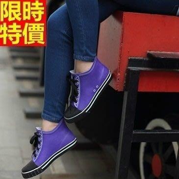 短筒雨靴子 雨具-帆布運動版日韓風靡女雨鞋子2色66ak27[獨家進口][米蘭精品]