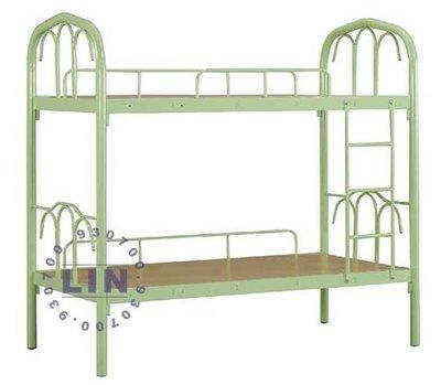 【品特優家具倉儲】P934-04床架綠色雙層鋼鐵床