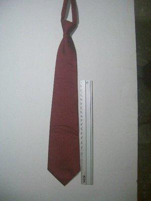 棗紅色緞面 格紋 拉鍊式 領帶 庫存出清 一條一元起標  永和