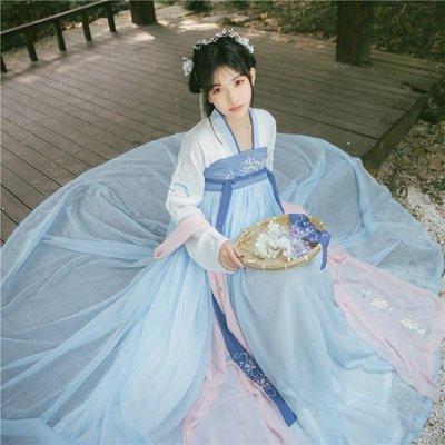 【軟煙羅】國色芳華傳統漢服女齊胸對襟襦裙春夏款