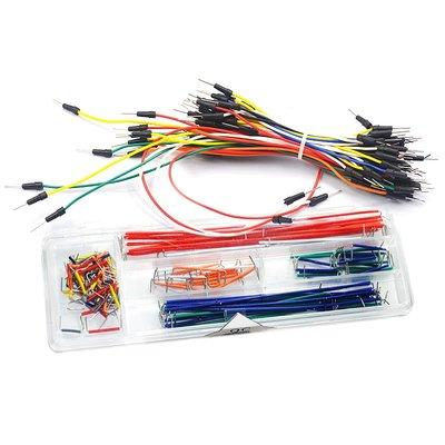 雜貨小鋪 面包板專用跳線 插線 連接線 導線 跳線扎線 一扎65根 盒裝140根
