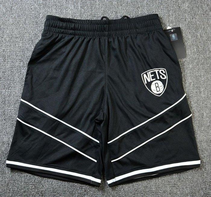 NBA籃球大童短褲 布魯克林籃網隊   KEVIN DURANT IRVING   口袋版 運動籃球褲 黑色 正版