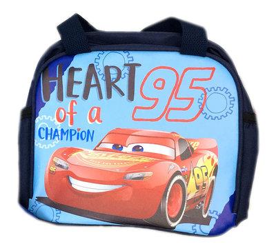 【卡漫迷】 Cars 便當袋 天空藍圖 ㊣版 手提袋 拉鍊式 餐袋 汽車總動員 閃電麥坤 Mcquee 賽車