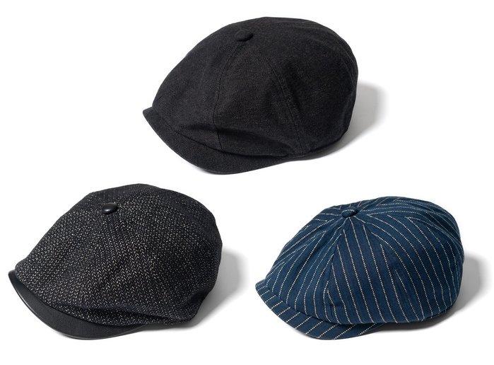 { POISON } RETRODANDY HUNTING CAP 帽簷頂釦山羊皮 經典狩獵帽