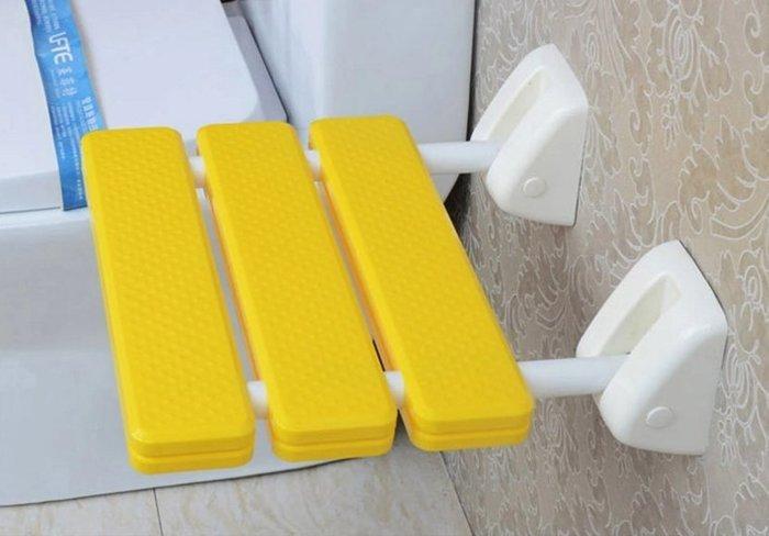 【奇滿來】淋浴椅 洗澡椅 耐重壁椅 換鞋凳 收納椅 小凳子 可折疊椅 衛浴浴室座椅 長者居家照護 防水 AYAM