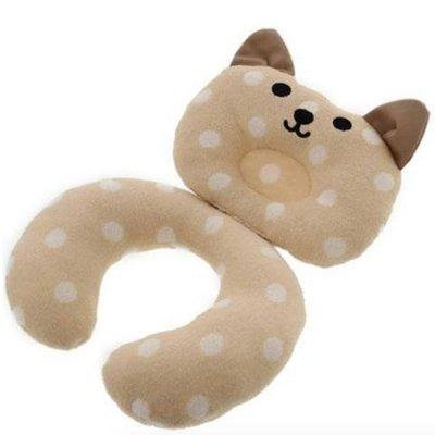 兒童 多用途枕頸坐墊 貓咪款 (咖啡色/粉色)可選擇