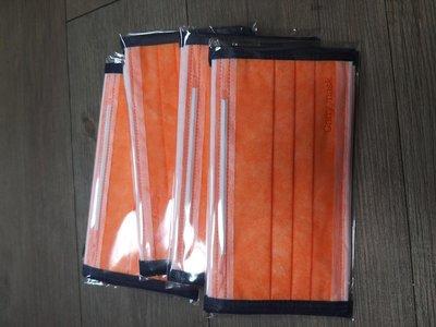 加利藍莓芝士/滾邊藍撞橘成人平面口罩(一包五入)