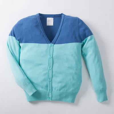 【YOYOGI PLUS】ADLIB - 半拼接針織衫 (藍)