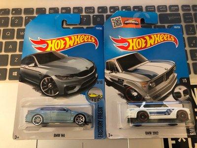 全新Hotwheels  BMW M4 & BMW 2002 2架