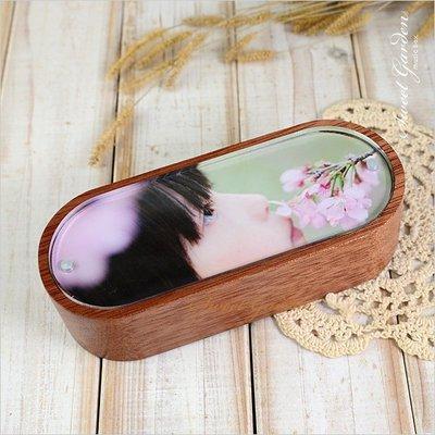 Sweet Garden, 辦公室 情人禮物 diy更換相片 選擇喜歡的曲目 真心緬甸紅木圓角相框音樂盒(可選曲)