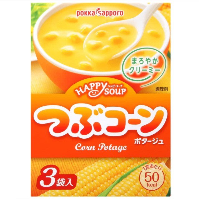 +東瀛go+ Pokkasapporo POKKA玉米濃湯 3袋入 日本湯品 玉米濃湯 日本進口 冬天溫暖首選 拜拜