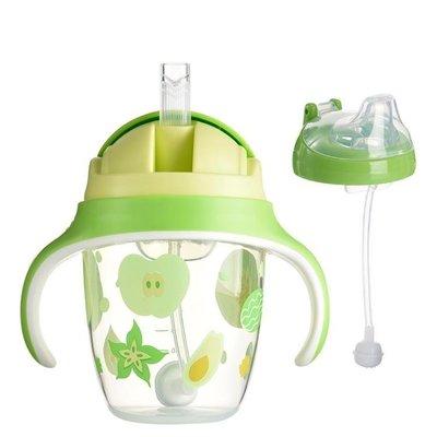 寶寶吸管杯帶手柄創意大容量嬰兒學飲杯兒...