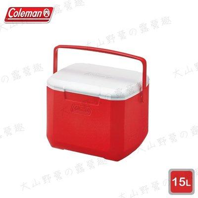 【露營趣】Coleman CM-27860 15L Excursion 美利紅冰箱 手提冰桶 露營冰桶