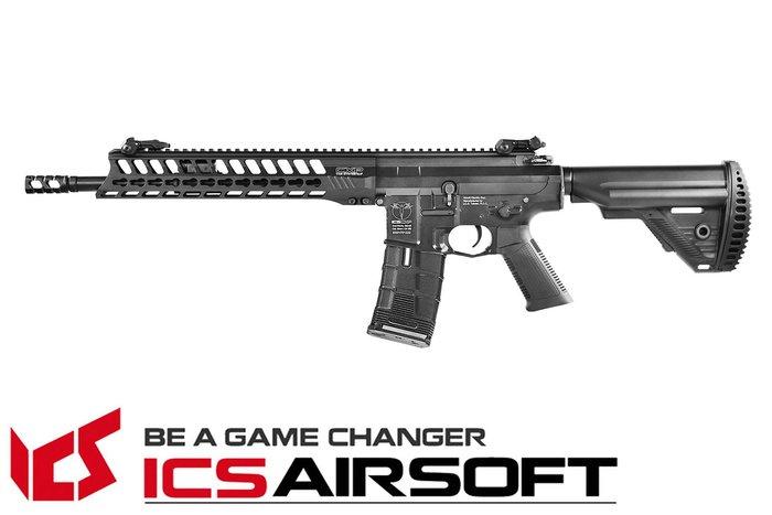【翔準軍品AOG】ICS CXP-YAK Carbine (黑)S1托 EBB Keymod 全金屬 電動 生存遊戲