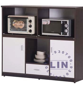 【品特優家具倉儲】045-13餐櫃收納櫃塑鋼微波爐架E-012