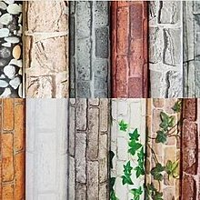 【3C創意生活館】墻磚磚塊壁紙磚頭墻貼復古寢室自粘墻紙臥室防水即時貼磚塊45*1000cm