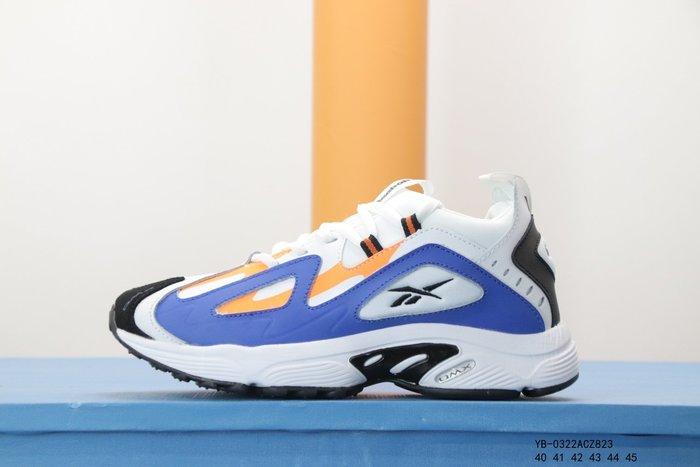 酷兒の體育 Reebok DMX Series1200 銳步休閒運動跑步鞋 專櫃品質男鞋 潮流百搭 白藍