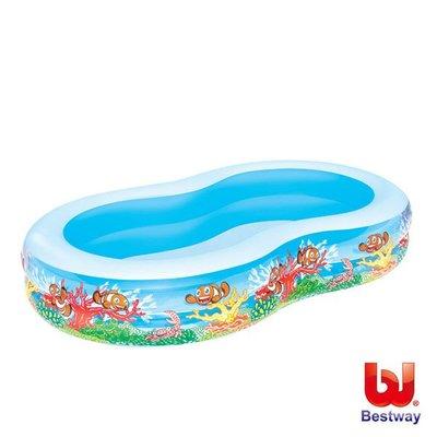 金潮派-Bestway。103x62x18吋海洋曲線造型泳池(69-13224)