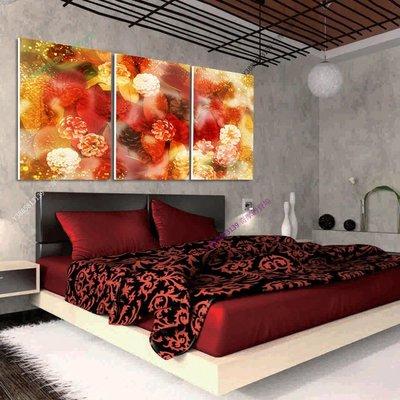 【50*70cm】【厚2.5cm】紅白菊花-無框畫裝飾畫版畫客廳簡約家居餐廳臥室牆壁【280101_486】(1套價格)