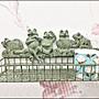 鄉村風 鐵藝綠色刷舊仿古青蛙造型牆壁收納架...