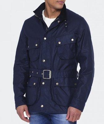 現貨 BARBOUR INTERNATIONAL GAUGING 藍色 棉質 油布 防水 燈心絨 風衣 腰帶 外套 夾克